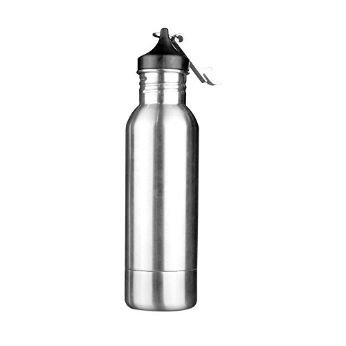 AMZTM Stainless Steel Beer Bottle Cooler With Opener, Sweat-Proof Beverage Can Insulator, Portable For Beer lovers (Silver) by AMZTM