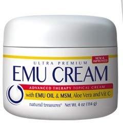 - Emu Oil Cream w/MSM, Aloe, Vit C Natural Treasures 4 oz Cream