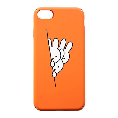 Little merry iPhone7 iPhone8 ミッフィー ナインチェプラウス オレンジ かわいい おしゃれ ハードケース カバー シンプル かわいい ストラップホール付き (iPhone7,8用)