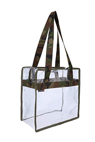 Scout Jump Clear Bag National Football Stadium Approved - Perfect for Work,School,Sports Games and Concerts. See-Through Transparent Shoulder Bag 12