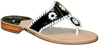product image for Jack Rogers Navajo Women's Black/White Thong Sandals
