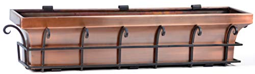 H Potter Copper Window Box Flower Garden Planter 36 Inch Length