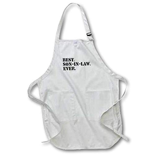 Family and Relative Gifts 3dRose Best Son in Law Ever Fun Inlaw Gifts Black with Pockets 22 by 30-Inch apr/_151541/_4 Full Length Apron