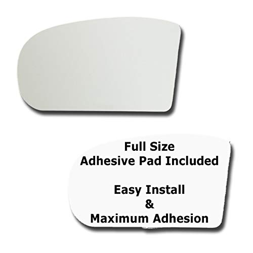Mirror Glass + Full Size Adhesive Pad for 2006-2009 Mercedes-Benz E350 Driver Side Replacement