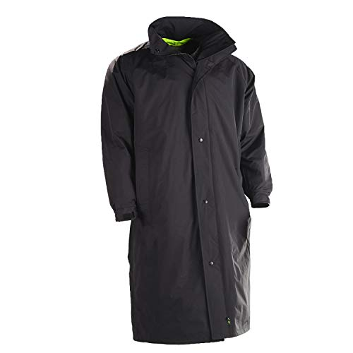 (Gerber 70F3/L Outerwear Typhoon Reversible Rain Coat Black/Lime Yellow Size Small/Regular)