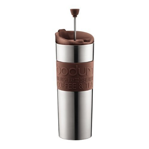 Coffee Maker Not Made In China : Bodum Stainless Steel 16-Ounce Vacuum Travel Press Coffee Maker with Brown Silicone Grip ...