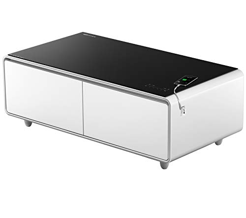Table Refrigerator - PRIMST Smart Refrigerator Coffee Table, White