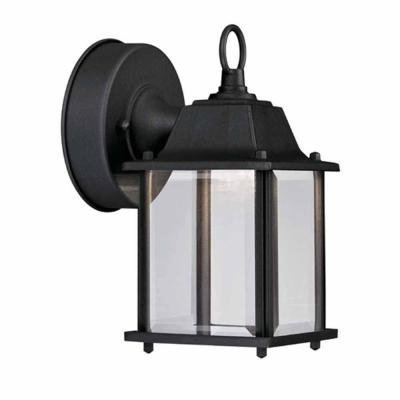 Hampton Bay Black Outdoor LED Wall Lantern HB7002-05