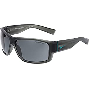 Nike Grey Lens Reverse Sunglasses, Matte Crystal Stadium Grey/Turbo Green