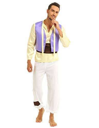East Indian Halloween Costumes - easyforever 4Pcs Men's Arabian Prince Costume