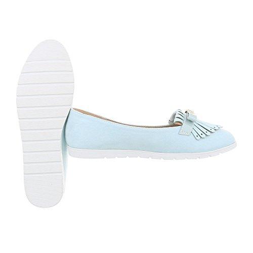 Italiensk Hellblau T261 Kvinners Tøffel Slippers Design qOP41qZ