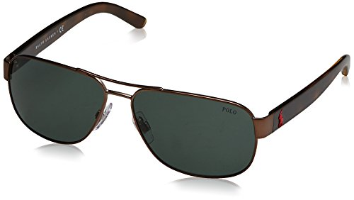 Green Polo Marron Sonnenbrille PH3089 Semi Dark Brown Shiny qrgr4vxw0
