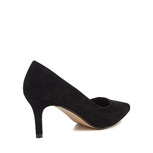 J by Jasper Conran Womens Black Suede 'Jasmina' Mid Kitten Heel Pointed Shoes 1oIM9tebVP