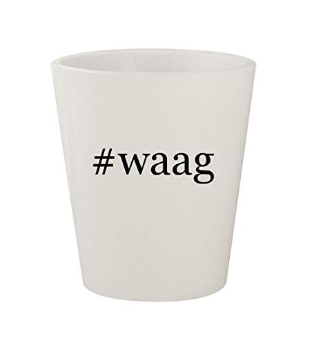 #waag - Ceramic White Hashtag 1.5oz Shot Glass -