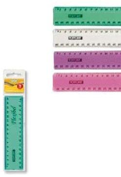 Stylex Lineal 16cm biegsam flexibel transparent klar Toppoint