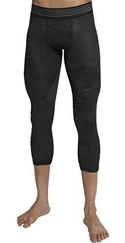 Nike Men's Pro Hypercool 3/4 Tights, Black (Large)