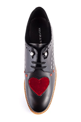 Melvin amp; Lacets 686 Femme de Chaussures à pour Ville MH15 Hamilton EU Noir Noir 37 8qwrdxT8