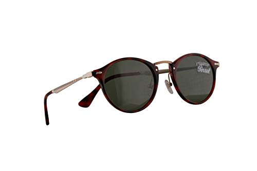 Persol 3166-S Calligrapher Edition Sunglasses Red Grid w/Green Lens 49mm 110031 PO 3166S PO3166S ()