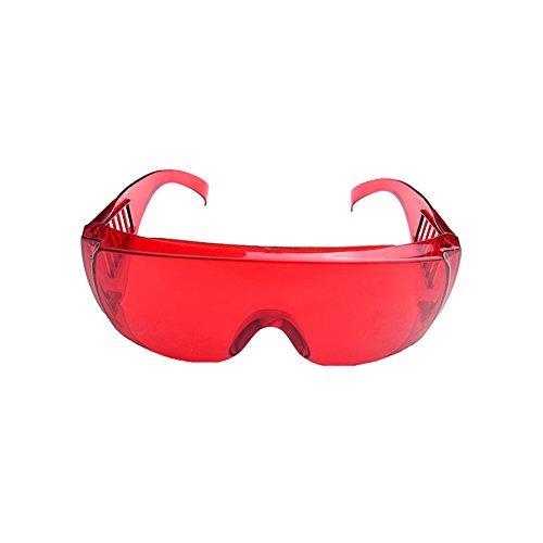 Lunettes de protection dentaire pour blanchiment des dents Polymé riser lampe UV pour masque de ski Rouge transparent Couleur Merlilive