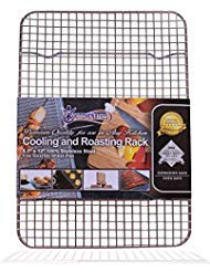 "Kitchenatics 100% Stainless Steel Wire Cooling and Roasting Rack Fits Quarter Sheet Size Baking Pan, Oven Safe, Commercial Quality, Heavy Duty for Cooking, Roasting, Drying, Grilling (8.5"" X 12"") for $<!--$13.98-->"