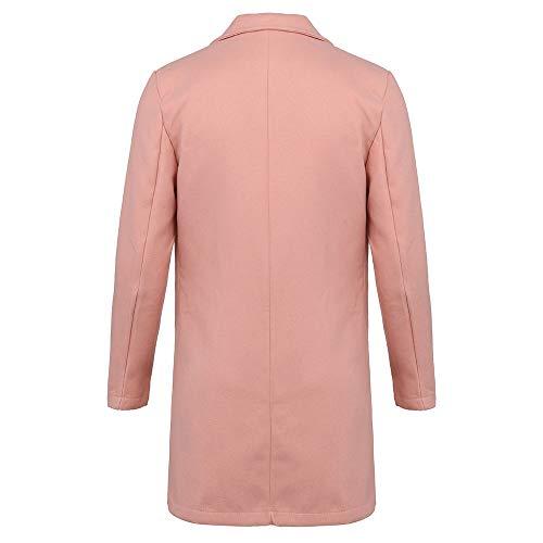 Rose Et D'automne Pardessus Mrulic Manteau Tranchée Nouveau De Long D'hiver Vêtements Pour Des Hommes Bouton xRq6wUIX