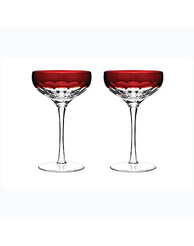 Waterford Mixology Talon Red Coupe Pair by Waterford