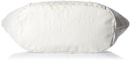 Kipling Blanco Bolsas Mujer Eris de y Weave White de playa tela ggw6rn8axq