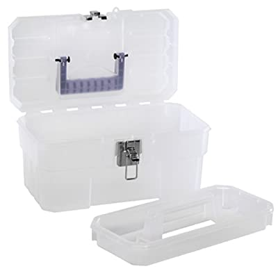 Akro-Mils 09514 CFT 14-Inch Plastic Art Supply Craft Storage Tool Box, Semi-Clear from Akro-Mils