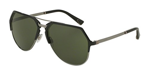 D&G Dolce & Gabbana Men's 0DG2151 Aviator Sunglasses, Black/Gunmetal Dark Green, 59 - D&g Glasses Mens Frames