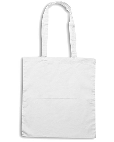 T-Shirtshock - Bolsa para la compra CIT0202 start with coffee Blanco