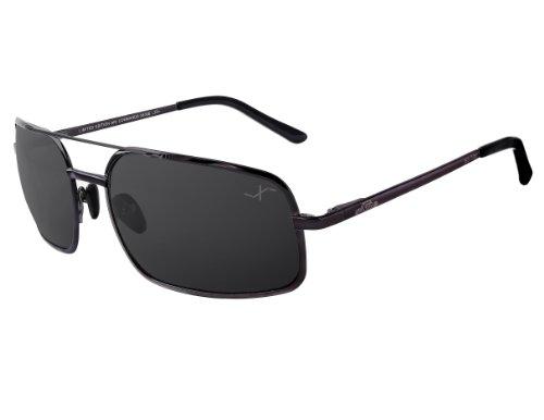 Xezo Pure Titanium Polarized UV 400 Large Size, Featherweight Sunglasses, Black Chrome, Black Chrome, 20g/0.7 - Men Face Oblong Glasses