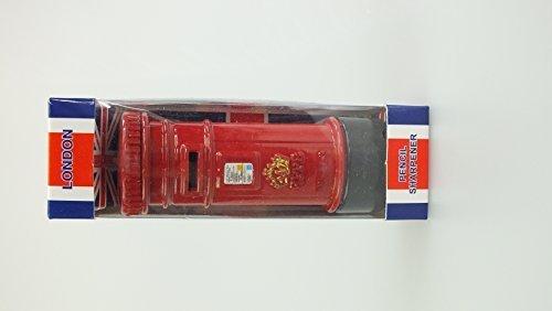 (London Bus, Tower Bridge, Big Ben, Post Box Miniature Pencil Sharpener UK Toy Souvenirs (Post Box))