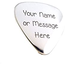 Guitar Pick - Custom Any Message - Personalized Stainless Steel Guitar Pick