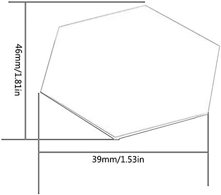 Matthew00Felix 12PCS Hexagone Amovible Auto-adh/ésif /étanche Miroir Autocollants Accueil