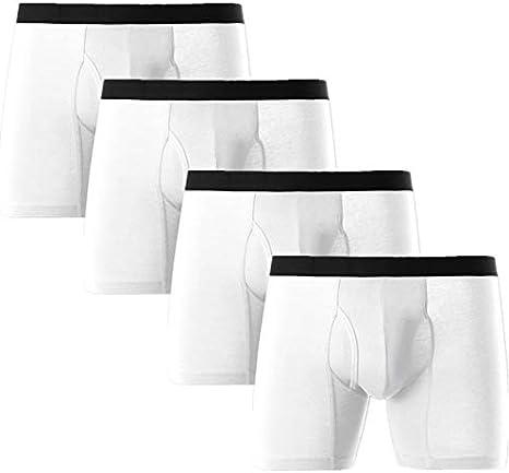 Lot Boxer Long B ZXYDDMW/ Boxer Hommes Coton//Contrast Waistband TrunksChaussettes Hipster Box Men Men Cotton Button Fly Boxer Stretch Cotton Briefs///Hommes sous-v/êtements Trunks///Multipack 4pcs