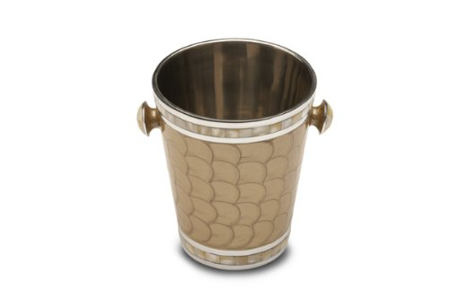 Julia Knight Classic Ice Bucket/Wine Chiller, 8-Inch, Toffee, Brown
