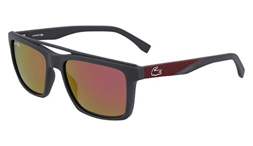 (Lacoste Men's L899s Rectangular Sunglasses, Grey Matte, 55.01 mm )