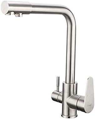 ろ過水が付いている台所コック304ステンレス鋼のミキサーの飲むコックの台所の流しの蛇口
