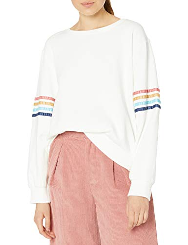 Rip Curl Junior's Ride Out Crew Sweatshirt, Bone, M