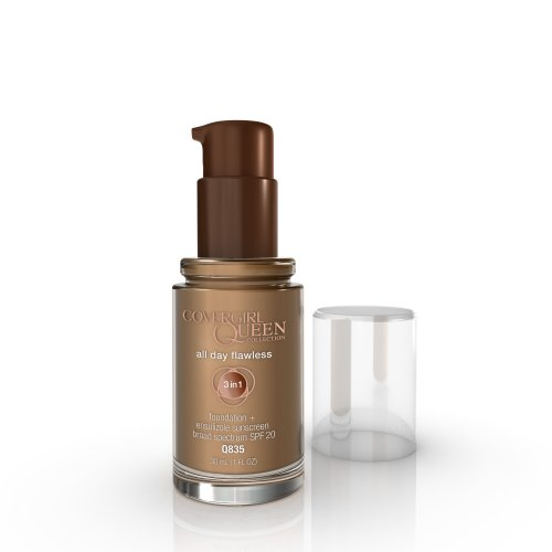 COVERGIRL Queen All Day Flawless Foundation Mocha Q835, 1 oz (packaging may vary)