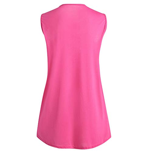 Jutoo Manches Shirt Femmes À Lâche cou Mode Femmes O Rose T Tank Solide Sexy Daliy Top Volants Casual Sans gv5rwgq