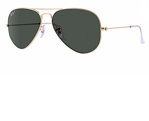Gold Green Aviator Large Ban Rb3025 Polarized crystal Metal Sunglasses Ray caqfYW