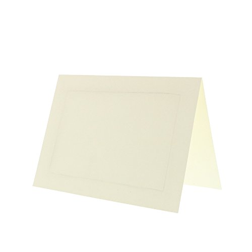 JAM PAPER Blank Foldover Cards - 4 3/8 x 5 7/16 (Fits in A2 Envelopes) - Ivory Panel - 100/Pack