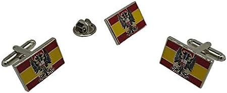 Gemelolandia | Pack Gemelos y Pin Bandera España Aguila Imperial 20x12mm Gemelos Originales Para Camisas | Para Hombres y Niños | Regalos Para Bodas, Comuniones, Bautizos y Otros Eventos: Amazon.es: Hogar