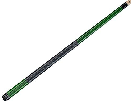 (Valhalla by Viking 2 Piece Pool Cue Stick VA115 Green Stain Irish Linen Wrap 16-21 oz. Plus Blue Master Chalk (Green VA115, 19))
