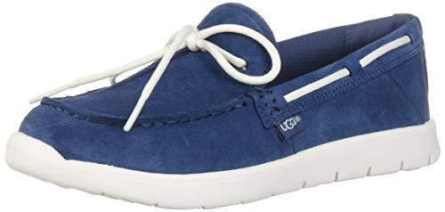 UGG Unisex K Beach MOC Slip-ON Boat Shoe Ensign Blue 5 M US Big Kid ()