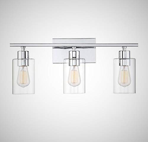 Savoy House 8-2149-3-11 Lambert 3-Light Bathroom Vanity Light in Polished Chrome with Clear Glass (22