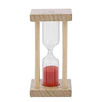 Temporizador de Reloj de Arena con Reloj de Arena y Reloj de Arena de Madera para niños Que cepillan 1/5 Minutos - Madera: Amazon.es: Hogar