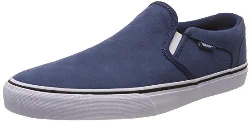 Vans Asher Deluxe, Sneaker Infilare Uomo Blu ((Check Jacquard) Dark Denim/White U0d)