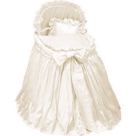 Babykidsbargains Prima Donna Ecru Liner Skirt and Hood, 16'' x 32''